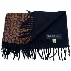 Burberrys Vintage Silk Cashmere Paisley Scarf